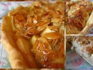 Recette tarte aux pommes, aux amandes et au miel