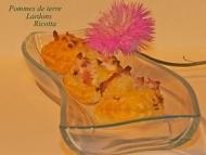 Recette feuilletés pommes de terre, lardons et ricotta