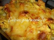 Recette gratin de tortellinis aux épinards et ricotta sauce parmesan