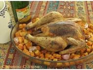 Recette poulet rôti au cidre, parfumé à l'ail et à la sauge