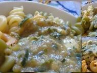 Recette trottole tricolore con salsa di zucchine e mozzarella