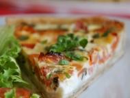 Recette quiche aux tomates, fromage de chèvre et basilic