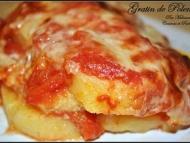 Recette gratin de polenta à la sauce tomate