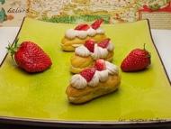 Recette éclairs fraises et mascarpone