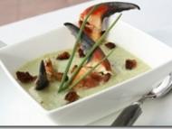 Recette velouté de céleri et fenouil aux pinces de crabe