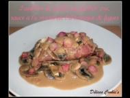 Recette papillote de poulet au jambon cru, sauce à la moutarde balsamique et figues