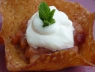 Recette compote fraise rhubarbe en corolle