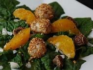 Recette salade d'épinards aux saint-jacques