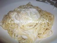 Recette spaghettis sauce au parmesan