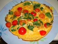 Recette omelette à la tomate et à la roquette
