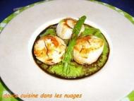 Recette coquilles saint-jacques, asperges vertes