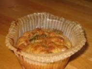 Recette muffin courgette chèvre et jambon fumé