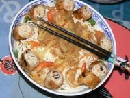 Recette bo bun aux crevettes, nems de poulet