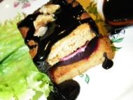 Recette mille feuilles betterave chèvre aux noix pain d'épice au balsamique