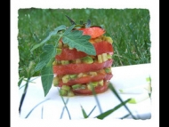 Recette millefeuille tomate avocat