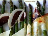 Recette asperges aux magret séchés et au fromage fondu