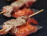 Recette brochette de boeuf au masalé, sauce tomate crue
