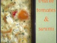 Recette crème brûlée tomates et surimi