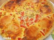 Recette tarte au picodon , thym et tomates sur une pâte brisée au vin blanc
