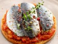 Recette sardine comme une pizza