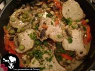 Recette mignonettes de porc sauce aux champignons