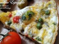 Recette omelette espagnole aux pommes de terre, poivrons et petits pois