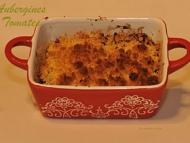Recette crumble d'aubergines et de tomates au curcuma et paprika