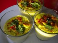 Recette gaspacho de fèves au lait de coco