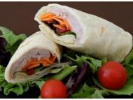 Recette wraps fraîcheur: thon, kiri, carottes, tomates, salade