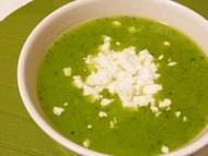 Recette soupes courgettes/feta et tomates/haricots verts
