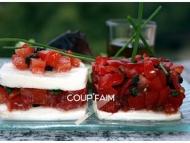 Recette tartare de tomates sur lit de mozzarella ou en mille-feuilles