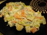 Recette fondue de poireaux et carottes