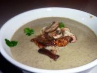 Recette soupe de champignons et tartines aubergine/chèvre