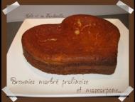 Recette brownies marbré à la pralinoise et mascarpone