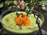 Recette velouté de panais, de courgettes et sa quenelle de carotte