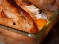 Recette soupe au pain et aux oeufs poches