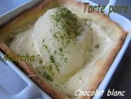 Recette tartelettes poire chocolat blanc matcha