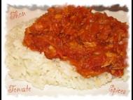 Recette mijoté de thon à la tomate et aux épices