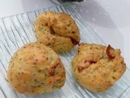 Recette gougères au fromage, aux tomates séchées et au pavot