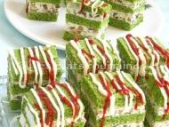 Recette apéritifs en cubes aux épinards, fromage et champignons
