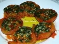 Recette tomates à la provencale et pommes caramelisée