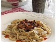 Recette pâtes fraiches olives, tomates, herbes