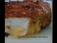 Recette escalope de poulet panées et farcies au cheedar et epices