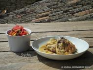 Recette poulet à la sarriette et sa compote de courgettes et tomates au thym