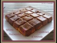 Recette gâteau cheesecake aux framboises et amande