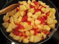 Recette crumble fraise pomme
