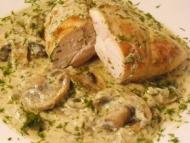 Recette blancs de poulet aux champignons