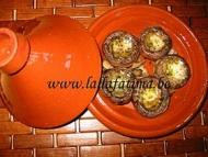 Recette champignons farcis au beurre d'ail