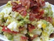 Recette salade de bacon, oeufs, avocats et tomates