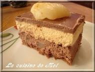 Recette entremet chocolat, poire et caramel